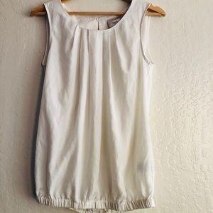 ECI New York sleeveless off white blouse XS NWOT